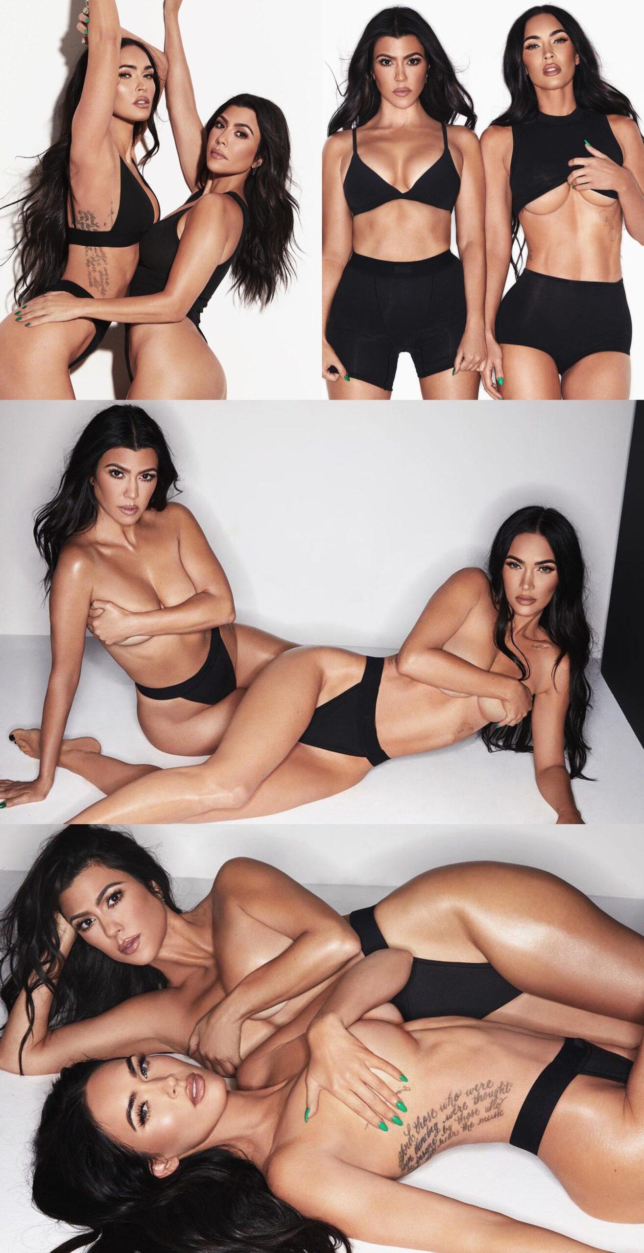 Megan Fox og Kourtney Kardashian for Kim Kardashians nye kolleksjon (SKIMS)