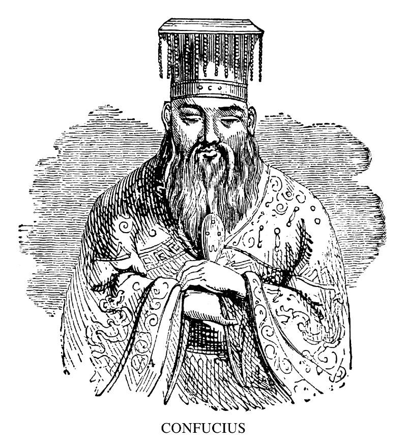 Confucius illustrasjon Gong Yoo Squid Game etterkommer
