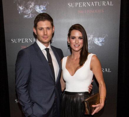 Jensen Ackles og hans kone Danneel Ackles - fra feiringen av episode 200 av Supernatural (Andrew Chin/Getty)