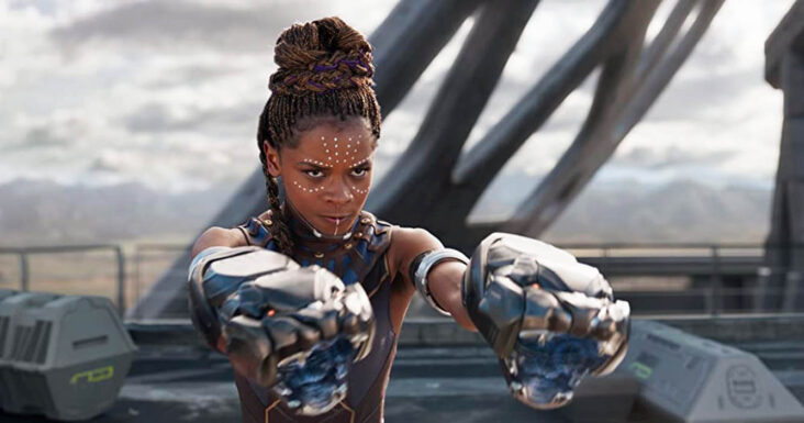 Letitia Wright som 16 år gamle Shuri; søsteren til T'Challa alias Black Panther (Marvel/Disney)