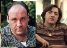 James Gandolfini som Tony Soprano i The Sopranos, Michael Gandolfini som Tony i The Many Saints of Newark (HBO, Warner Bros.)