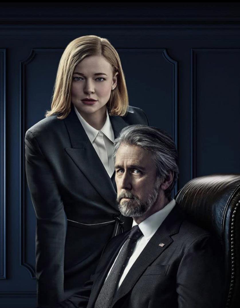 Sarah Snook og Alan Ruck (HBO)