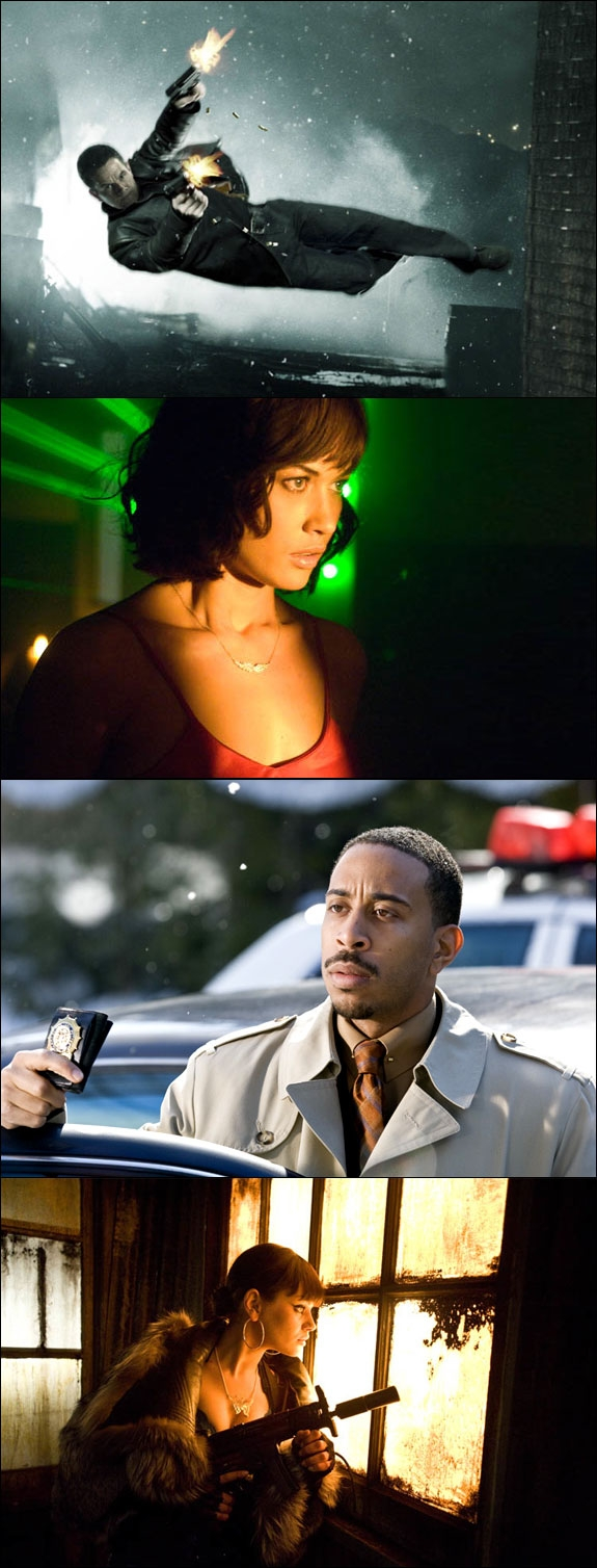 MARKY MARK, OLGA, LUDACRIS OG MILA SHOOT'EM UP (20TH CENTURT FOX)