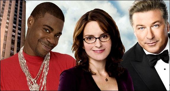 TRACY MORGAN, TINA FEY OG ALEC BALDWIN I 30 ROCK (NBC)