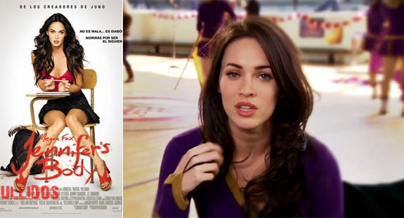 SPANSK VERSJON FILMPLAKATEN FOR JENNIFER'S BODY SOM MEGAN SNAKKER OM HER (FOX)
