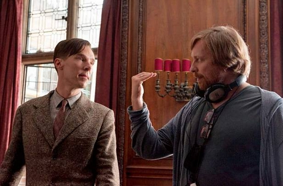 MORTEN TYLDUM OG BENEDICT CUMBERBATCH BEHIND THE SCENES (BLACK BEAR PICTURES)