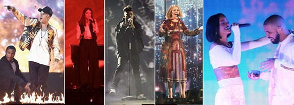 JUSTIN, LORDE, THE WEEKND, ADELE, RI & DRIZZY (ITV)