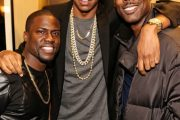 KEVIN HART, JAY Z OG CHRIS ROCK BACKSTAGE I MADISON SQUARE GARDEN (INSTAGRAM)