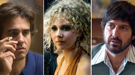 BOBBY CANNAVALE SOM RICHIE, RAY ROMANO SOM ZAK, JUNO TEMPLE SOM JAMIE (HBO)