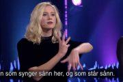 SKILT VED FØDSELEN SKJERMBILDE/NRK)