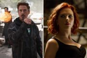 ROBERT DOWNEY JR. SOM IRON MAN SCARLETT SOM BLACK WIDOW (MARVEL/DISNEY)