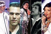 JB, TIESTO, MJ, BOB DYLAN, RI (UNIVERSAL, CASABLANCA)