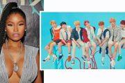 QUEEN NICKI MED K-POP-KONGENE BANGTAN BOYS ALIAS BEYOND THE SCENE ALIAS BTS (INSTAGRAM, BIG HIT)