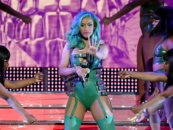 BARDI LIVE PÅ AVN 2019 PÅ HARD ROCK CAFE HOTEL & CASINO I LAS VEGAS (ETHAN MILLER/GETTY IMAGES)